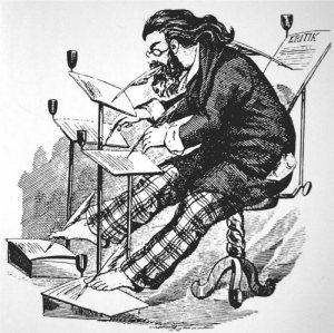 Schriftsteller Karikatur