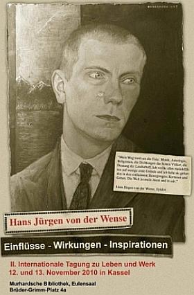 Plakat zur Tagung Hans Jürgen von der Wense