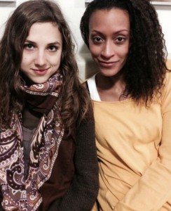 Sabrina Ceesay (rechts) und Hanna-Luna Braunewell. Foto: Braunewell